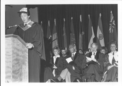 1982 Valedictorian address by David Hendsbee at Saint Mary's University